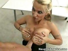 Hard Titwork From Busty Blonde Teacher!