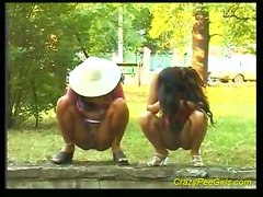 Piss: Crazy Pee Girl Does It Outdoor
