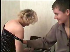 Blonde Mature Lady Fucked By Young Student