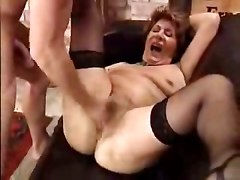 Old Granny Is Glad To Have Sex With Lad Cock