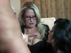 Hot Mommy-friend-son Threesome