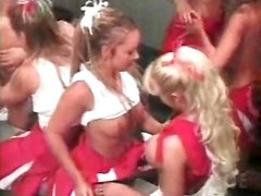 Lesbian Cheerleader Orgy Gets Going