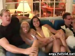 Stripping At Oral Orgy