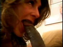 Brunette Sucks Extreme Big Cock