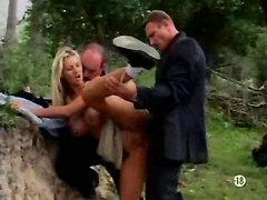Two Hoochies For Group Fucking Outdoor