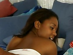 Young Ebony Deby Shows Some Experience