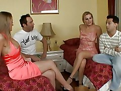 Blowjob Closeup With Foursome Floosies