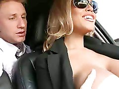 Clothed Man Fucks A Woman That Slowly Removes Her Clothes In Car And Inside