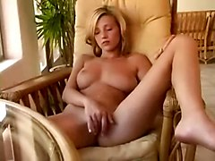 Amateur Blonde Babe Is Masturbating With Pleasure