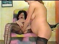 Pregnant Lesbians Double Fist