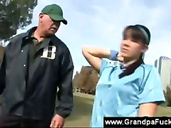 Sporty Teenager Shows Senior Her Body