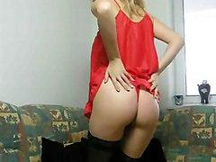 Blond Babe Stripping