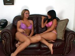 Lesbo Chicks Try New Toy