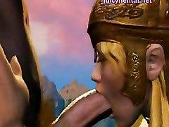 Animated Blonde Making Love