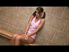 Smoking Hot Teen Banged In The Bathroom