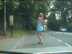 Cock-flashing Tranny Bitch Hits The Streets