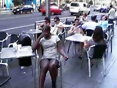 Artie In A Cafe Showing The Guys Whats Up Her Skirt