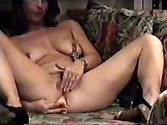 Mummy Home Alone Having Fun  Hidden Cam In Livingroom