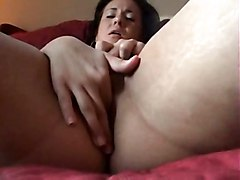Brunette Masturbating In Real Home Video