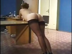 Russian Lady Getting A Good Spanking