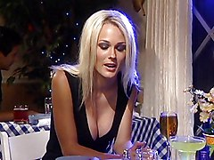Cute Blonde Fucked In Restaurant