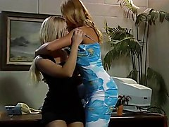Hot Lesbians Get It On In The Office