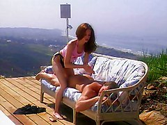 Tiny Titted Redhead Opens Her Pink