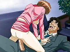 Hentai Anime Office Babe Gets Horny And Fucks