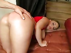 Big Oiled Ass Gets Punished By Boner