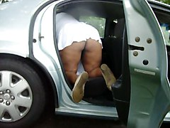 My Wife Cleaning The Car
