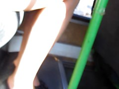 Stockings Upskirt In A Bus