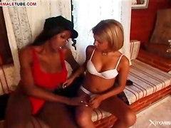 Ebony T-girl Has Big Cock!