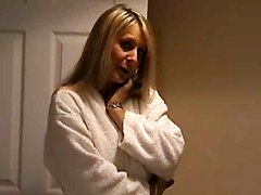 Blonde Milf Stripping
