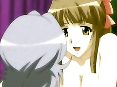 Horny Anime Lesbians Playing With A Strapon