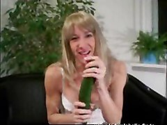 Teen Selfmade With Cucumber