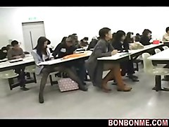University Girl Fingered In Classroom And Fucked By Geek