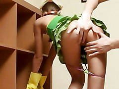 Teen Room Cleaner Fucked By Room Mate