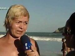 Real Nude Beach Brazilian Tv Report - Mulher Melao