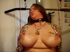 Pinkwings Tied And Waxed Nipples