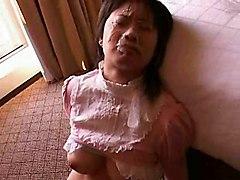 Busty Asian Doll Recieves Facial