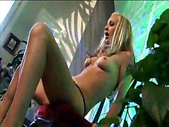 Blonde Doing Clit With Vibrator