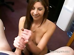 Lisa Marie Gives Dick An Awesome Handjob