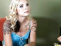 Blonde Hot Teen Sucks A Huge Cock