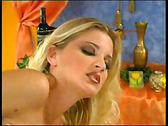 Blond Slut Strokes Herself