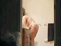 Watch My Mom Fully Naked In Bathroom. Hidden Cam
