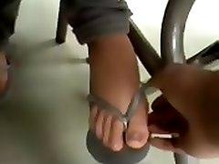 Schoolgirl Feet Touch