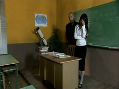 Sexy Teacher Likes Sex In School