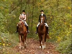 Horsewomen Masturbation Outdoor