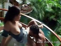 Exotic Chick Brianna Tabu Enjoys A Nice Tropical Afternoon With Cock Rubbing Her Pussy Lips