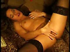 Amateur Girl In Stocking Likes Anal Fingering